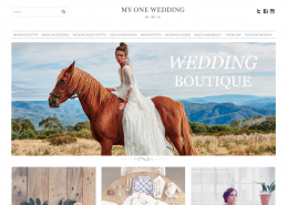 MYONEWEDDING website design