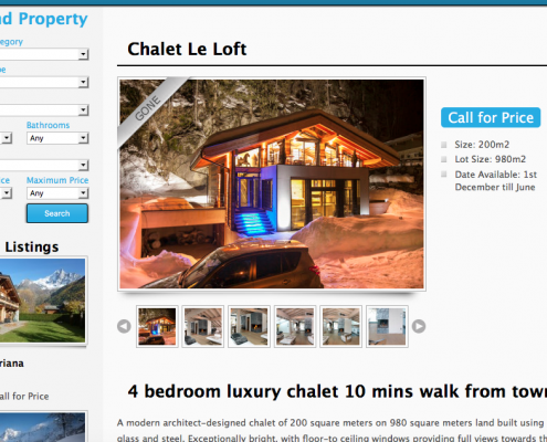 chalet page design